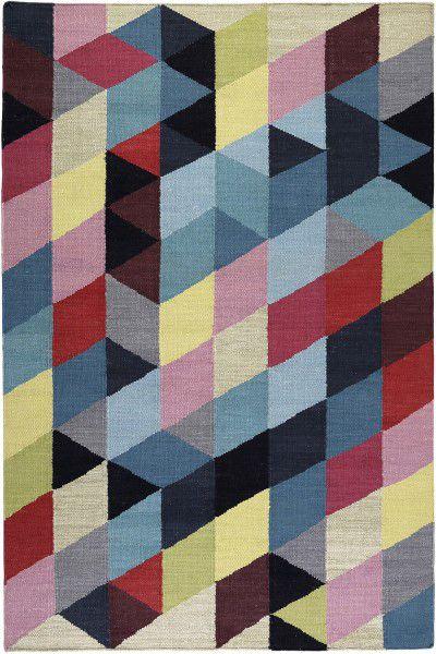 Kurzflor Designer Teppich Esprit Rainbow Triangle Kelim ESP-7722-01 multicolor
