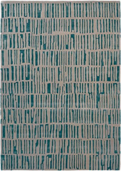 Kurzflor Designer Teppich Harlequin Skintilla 41707 Kingfisher grau türkis