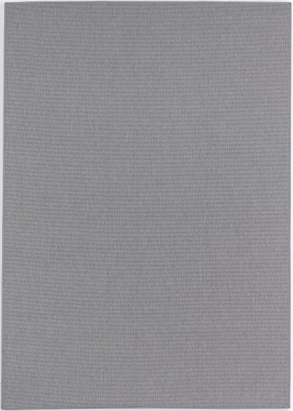 Kurzflor Designer Teppich Schöner Wohnen Yucca 190 005 grau / Bordüre 042 dunkelgrau