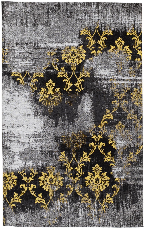 teppich super line nancy pintur 626 grau gelb raum. Black Bedroom Furniture Sets. Home Design Ideas