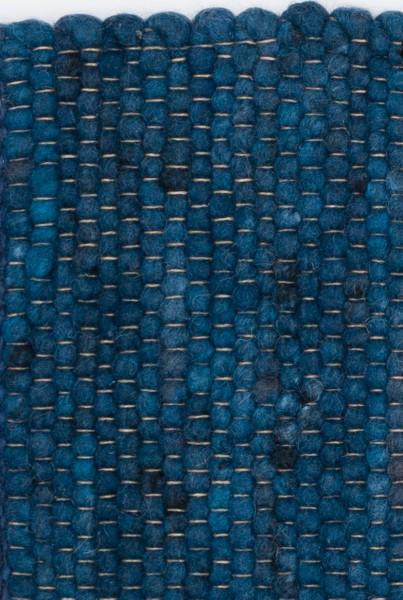 Kurzflor Designer Teppich Paulig Salsa 158 blau