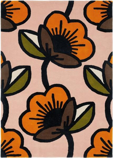 Kurzflor Designer Teppich Orla Kiely Passion Flower 059602 pink