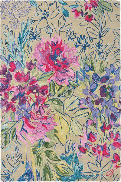 Kurzflor Designer Teppich Bluebellgray Ines Jardin 19904 multicolor