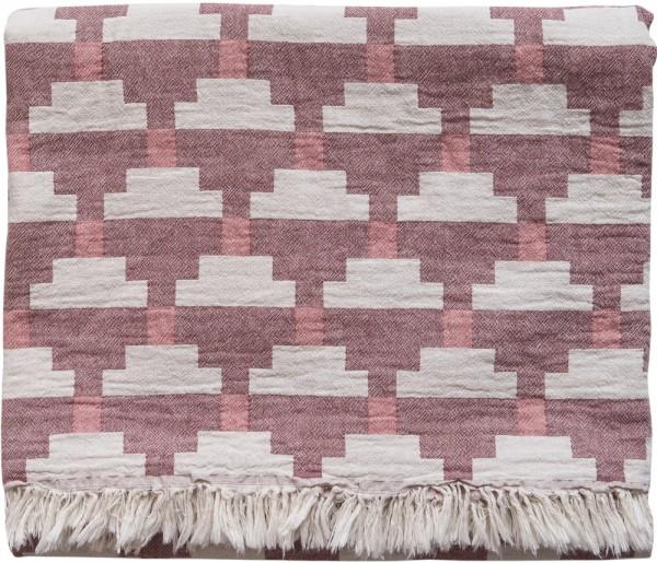 Decke Baumwolle Brita Sweden Confect sumac / rosa lila