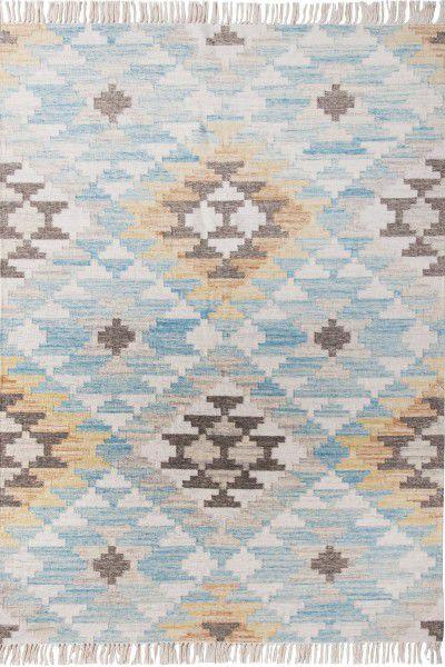 Teppich Tom Tailor Vintage Check Kelim 725 türkis multicolor