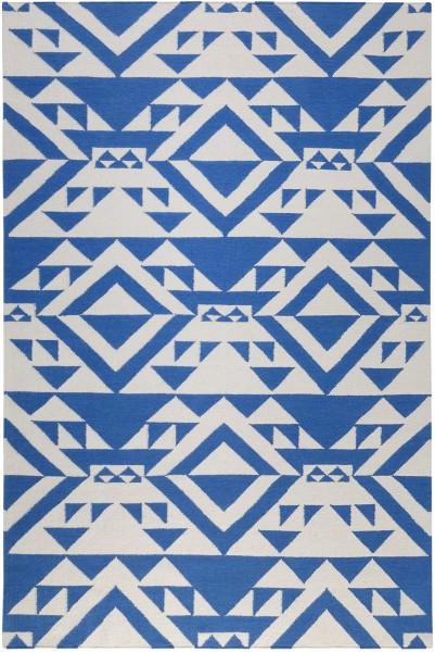 Kurzflor Designer Teppich Accessorize Blue Mellow ACC-004-12 blau weiss