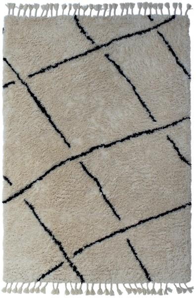 Hochflor Shaggy Teppich Angelo Zagora 8906WB-KAD-500 elfenbein / creme