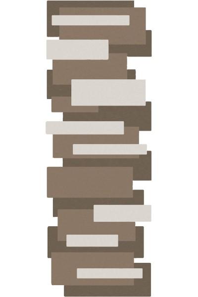 Kurzflor Designer Teppich Angelo Pebbles Läufer 9713-632 beige