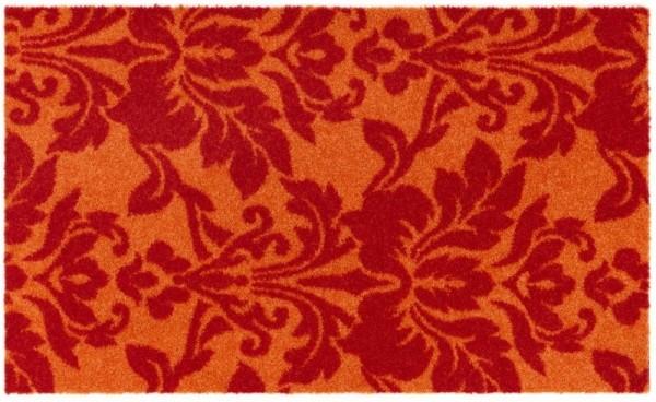 Sauberlaufmatte Schöner Wohnen Wall Street Barock 001 rot orange