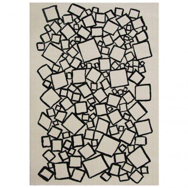 Kurzflor Designer Teppich Edito Cascade Graphic AR008G creme in 160 x 230 cm