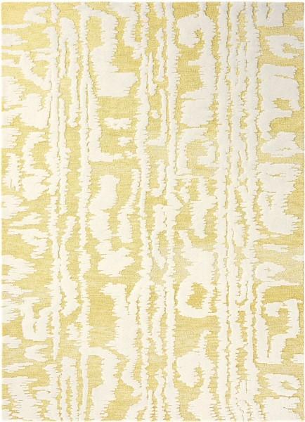 Kurzflor Designer Teppich Florence Broadhurst Waterwave Stripe 039906 Citron gelb