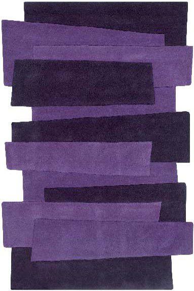 Teppich Angelo Pebbles Balken 9714-70 lila