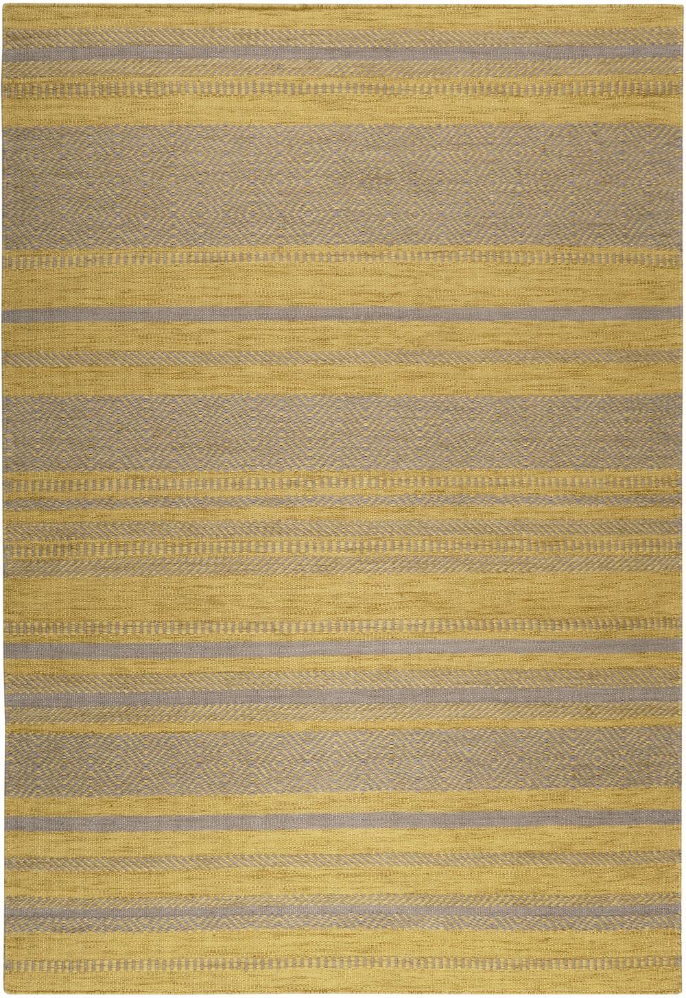 Teppich Esprit Hudson Kelim Esp 6113 05 Gelb Taupe Raum Quadrat
