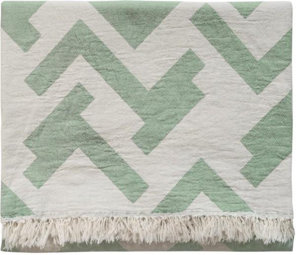 Decke Baumwolle Brita Sweden Florens verdigris / grün