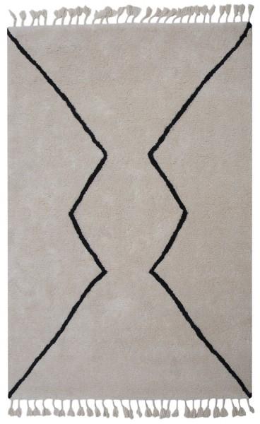 Kurzflor Designer Teppich Angelo Boujad 8908-CRO-C4 elfenbein / creme