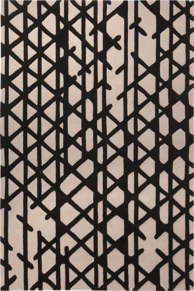 Kurzflor Designer Teppich Esprit Artisan Pop ESP-4011-01 schwarz weiss