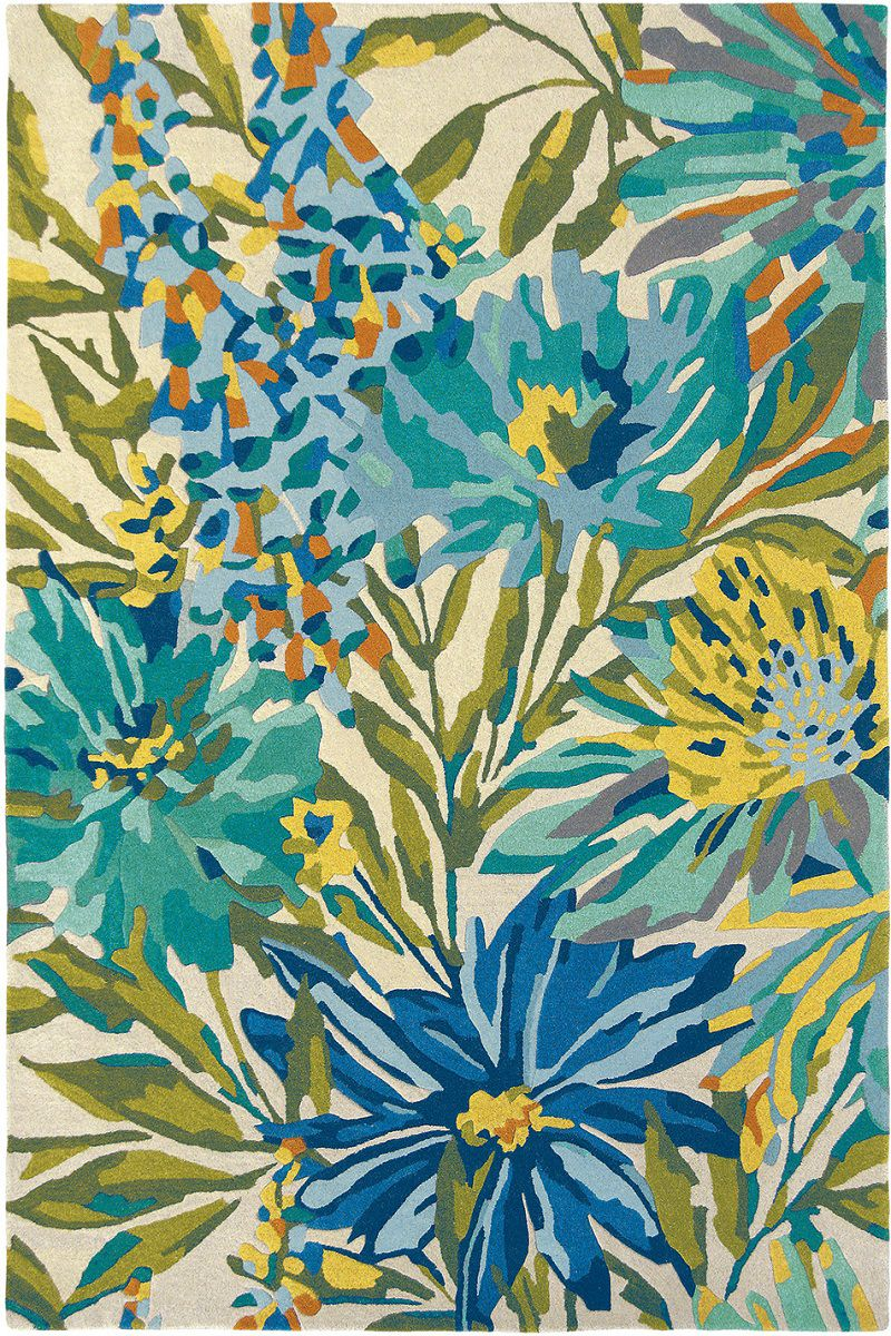 teppich harlequin floreale marine 44908 blau gr n raum quadrat fashion your room der. Black Bedroom Furniture Sets. Home Design Ideas