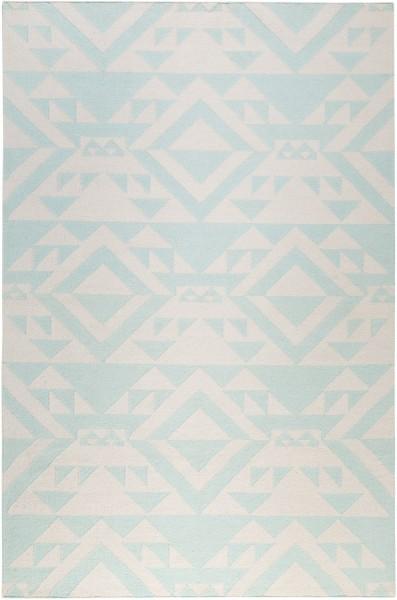Kurzflor Designer Teppich Accessorize Light Mellow ACC-004-10 pastellblau weiss