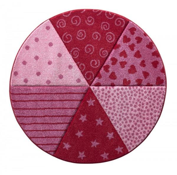 Kinder Teppich Sigikid Round Canon SK-21962-055 rot pink