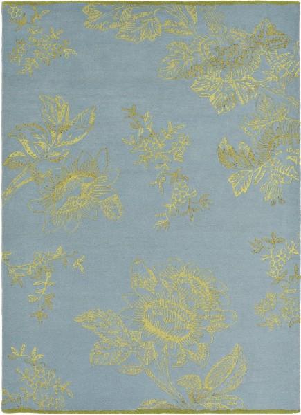 Kurzflor Designer Teppich Wedgwood Tonquin 37008 blau