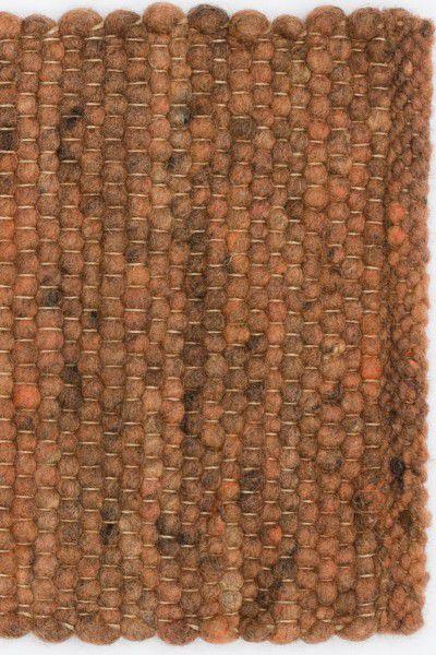Kurzflor Designer Teppich Paulig Salsa 66 braun rot