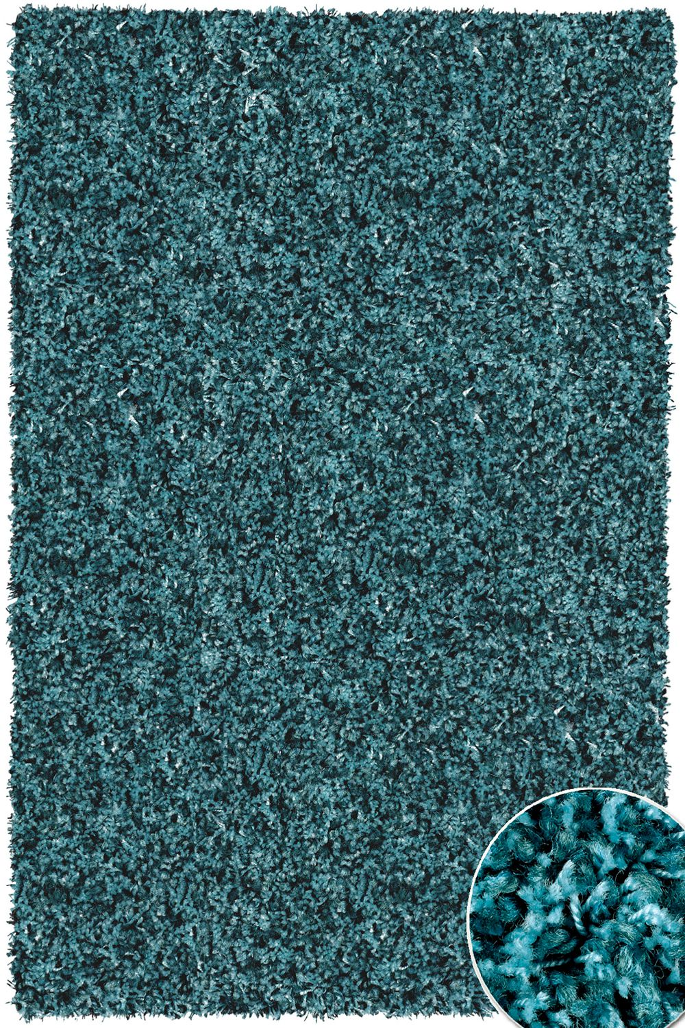 hochflor shaggy teppich twilight 5522 petrol blau raum quadrat fashion your room der. Black Bedroom Furniture Sets. Home Design Ideas