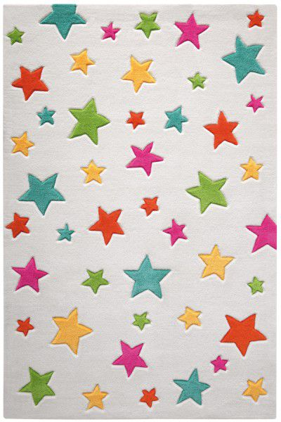 Teppich Smart Kids Simple Stars SM-3984-07 weiss