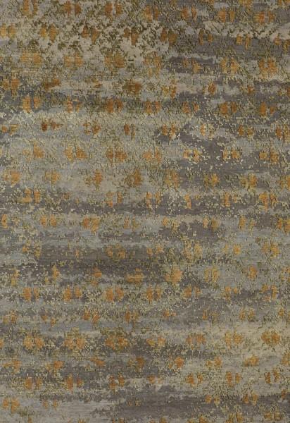 Kurzflor Designer Teppich Angelo Heritage Scottish 5100-SC-L1R3 grau grün gold