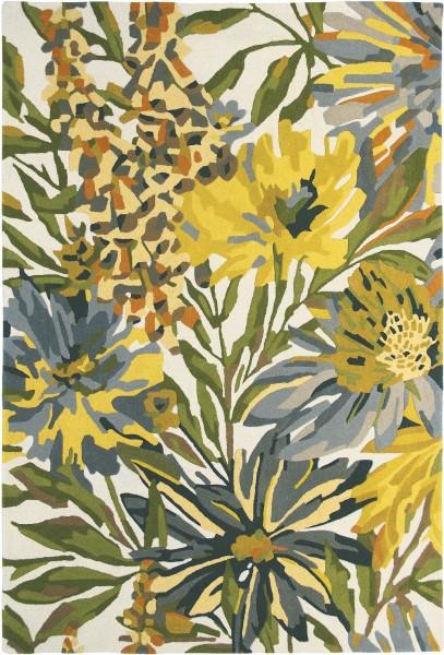 Kurzflor Designer Teppich Harlequin Floreale 44906 Maize gelb grün