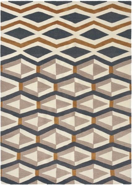 Kurzflor Designer Teppich Brink & Campman Yara Artdeco 33504 beige blau