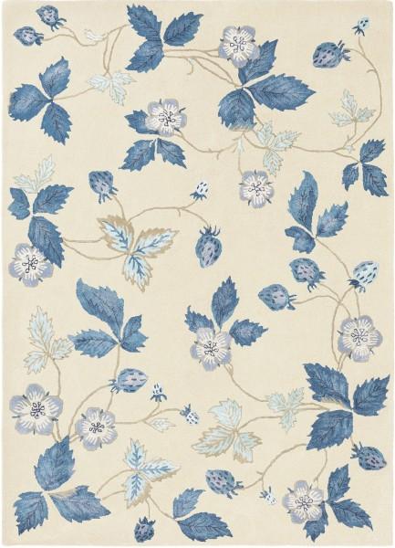 Kurzflor Designer Teppich Wedgwood Wild Strawberry 38108 creme blau