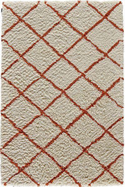 Hochflor Shaggy Teppich Angelo Zagora 8902-51 creme orange