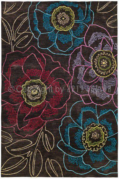 Teppich Arte Espina Mood 4300-37 dunkelbraun 70 x 140 cm