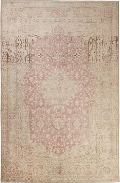 Kurzflor Designer Teppich Wecon Home Past Future WH-12268-01 beige rot
