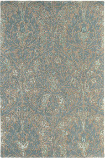 Teppich Morris & Co Autumn Flowers 27508 türkis blau