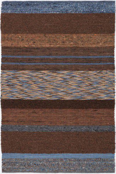 Kurzflor Designer Teppich Paulig Art Weave 65 braun blau