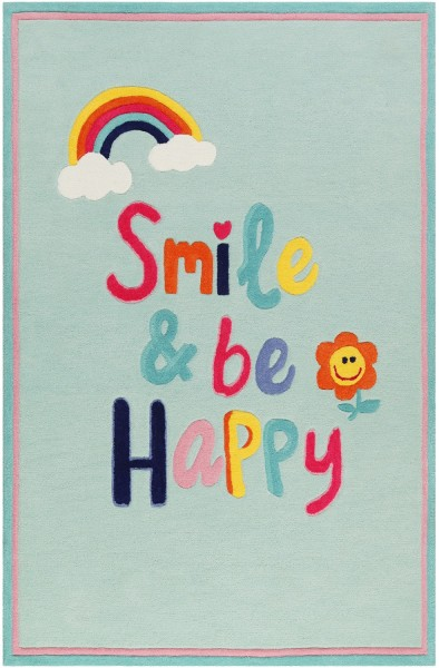 Kinder Teppich Smart Kids Happy me! SM-4328-01 hellblau