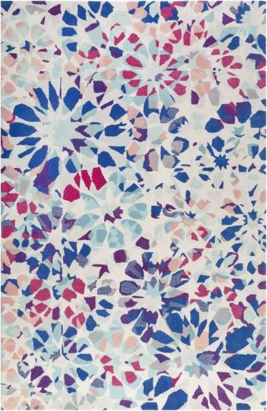 Kurzflor Designer Teppich Accessorize Kaleidoscopes ACC-006-10 blau