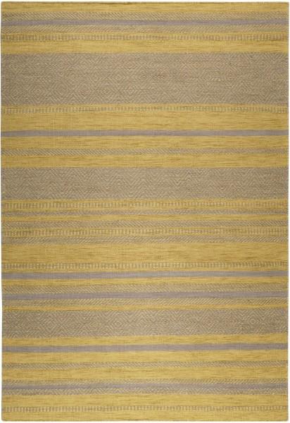 Kurzflor Designer Teppich Esprit Hudson Kelim ESP-6113-05 gelb taupe