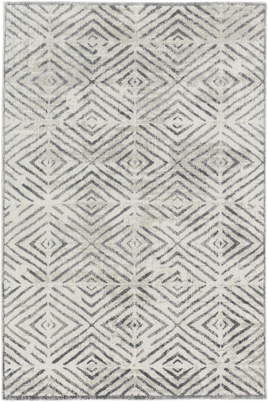 Teppich Schoner Wohnen Brilliance 182 040 Raute Grau Raum Quadrat