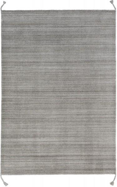 Kurzflor Designer Teppich Schöner Wohnen Alura 190 007 natur / silber grau