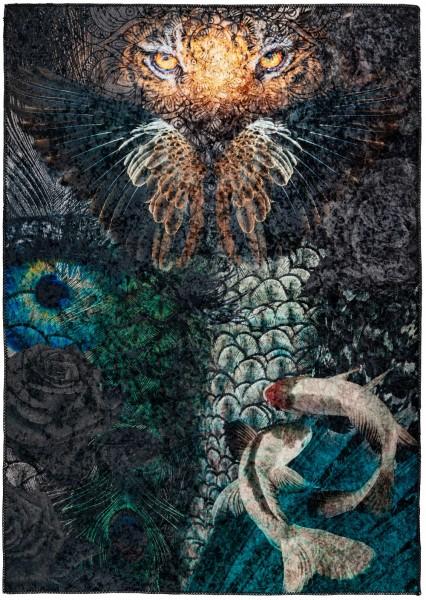 Kurzflor Designer Teppich Obsession Exotic 210 multicolor