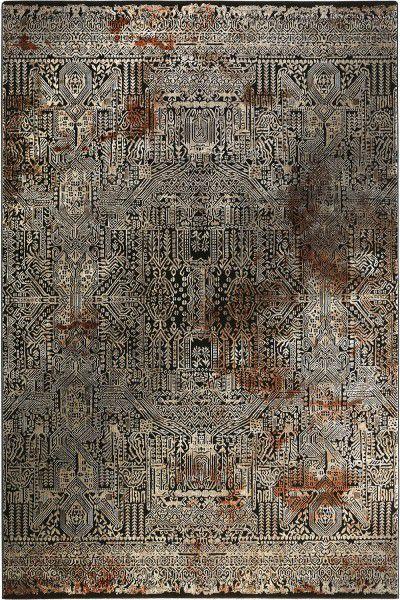 Kurzflor Designer Teppich Wecon Home Rococo Vintage WH-17306-096 anthrazit