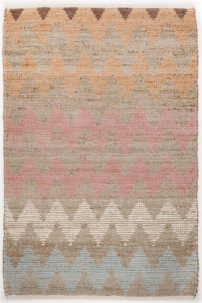 Teppich Tom Tailor Smooth Comfort Pastel Zigzag 115 multicolor