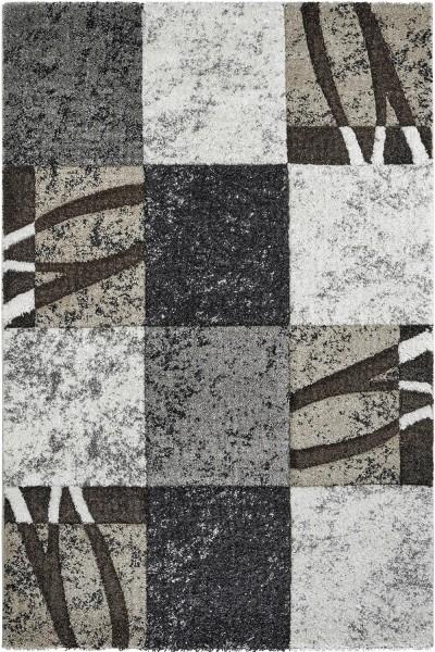 Kurzflor Designer Teppich Obsession Broadway 282 sand / grau beige