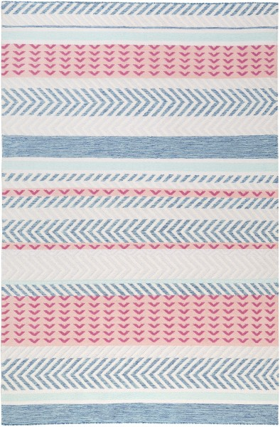 Kurzflor Designer Teppich Accessorize Pastella ACC-001-10 rosa blau