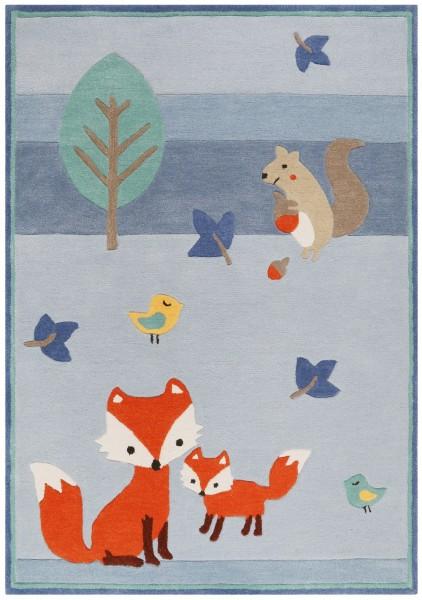 Kinder Teppich Esprit E-Fox In The Wood ESP-4371-03 blau multicolor