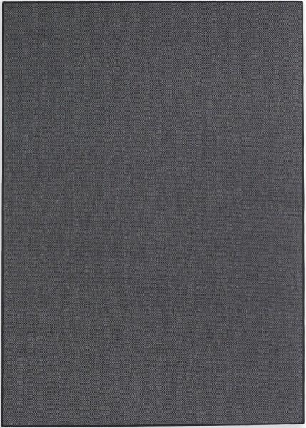 Kurzflor Designer Teppich Schöner Wohnen Yucca 190 040 anthrazit / Bordüre 044 schwarz