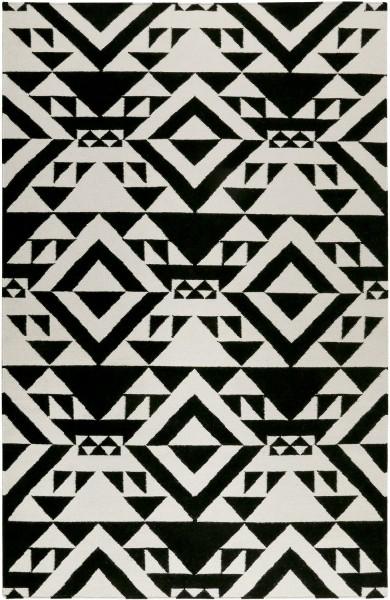 Kurzflor Designer Teppich Accessorize Black Mellow ACC-004-13 schwarz weiss