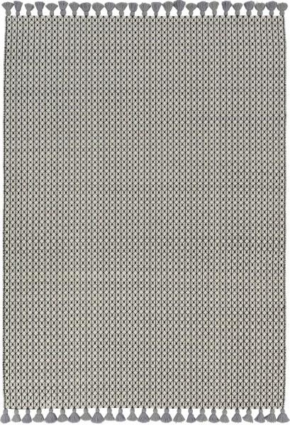 Kurzflor Designer Teppich Schöner Wohnen Insula 191 005 schwarz weiss grau
